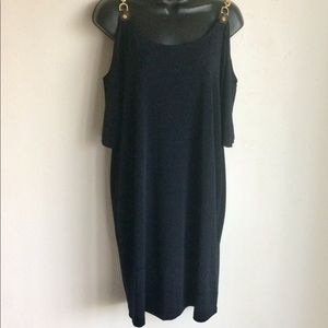 Michael Kors LBD Cold Shoulder Chains  Size XL